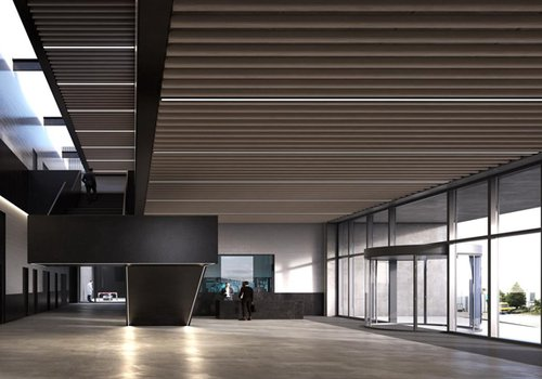 Image of a space at the Robotics Laboratory for the University of Salford