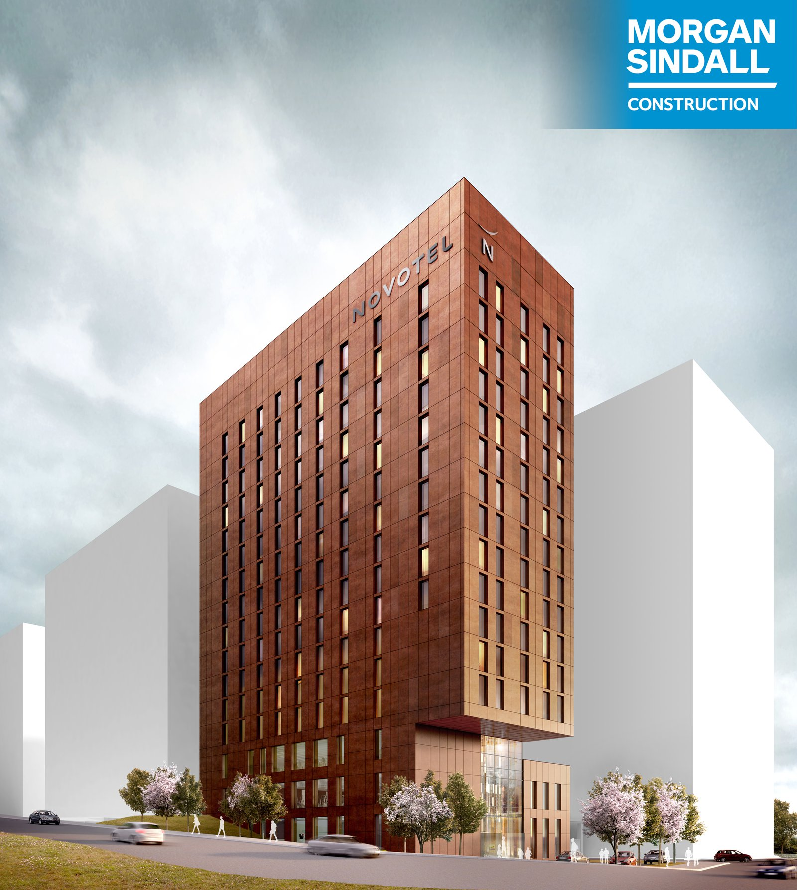Image of the hotel building proposed for the Paddington Village site in Liverpool