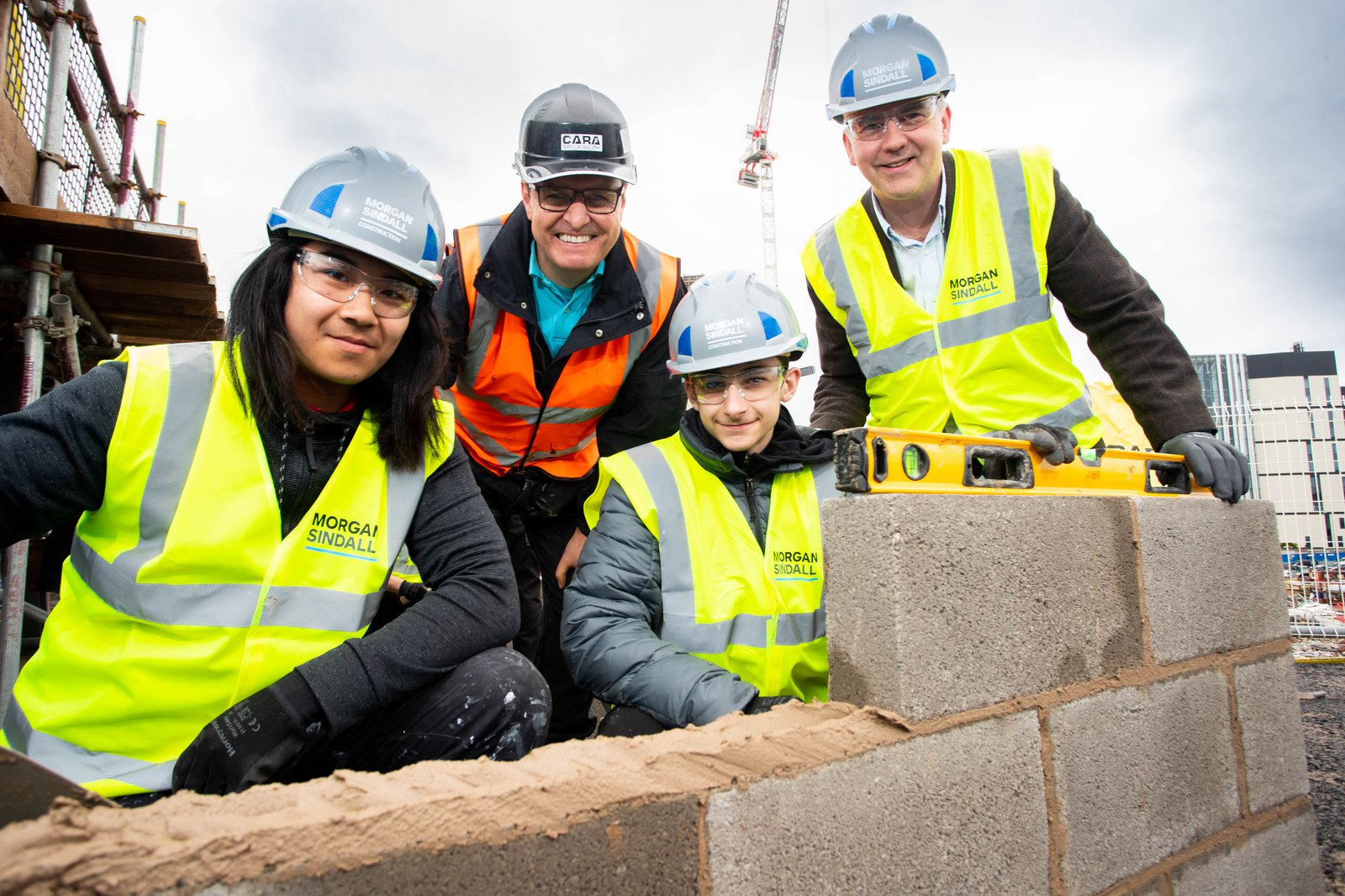 Image of those taking part in the CITB brickwork academy