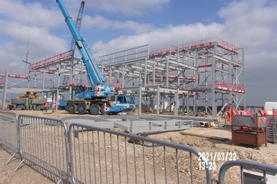 Steel works at the Great Yarmouth Marina Centre