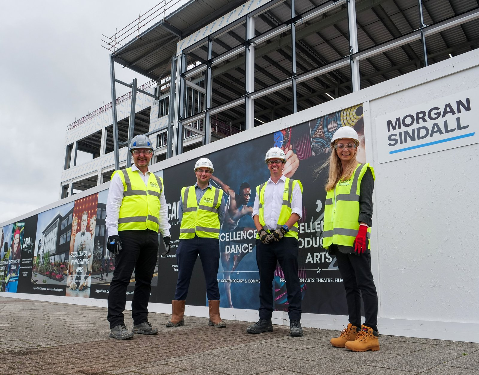 PIcture of Morgan Sindall Construction's groundbreaking event at CAPA College in Wakefield