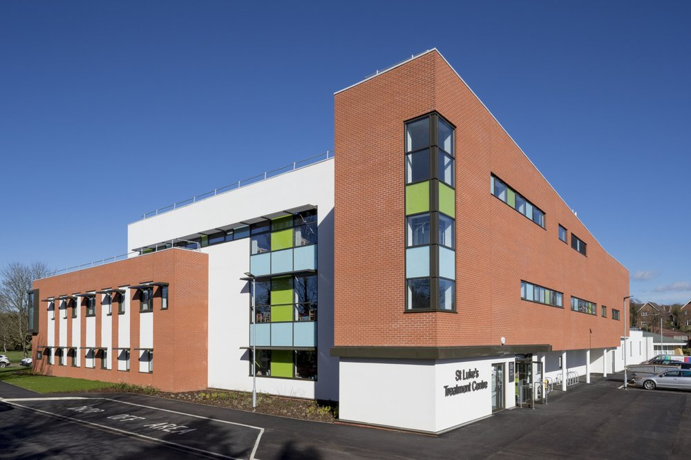 Side view of the St Luke's treatment centre in Market Harborough