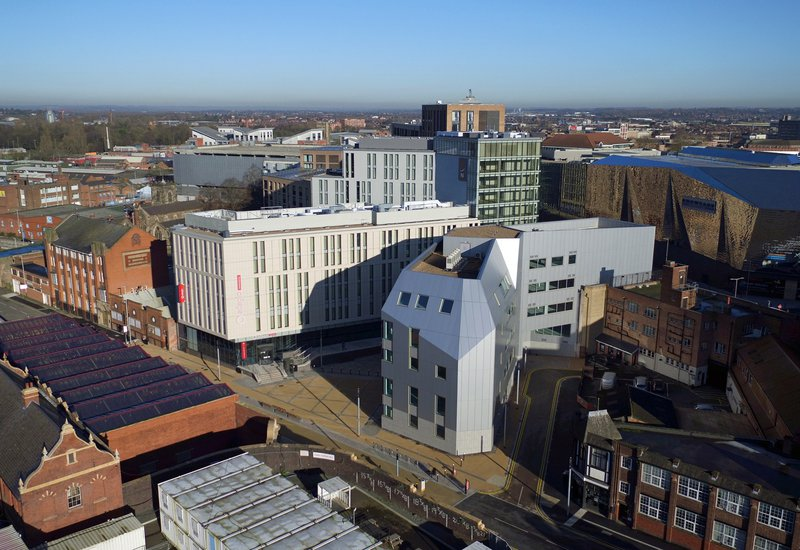 Aerial view of Great Central Square, Leicester (Project Medius)