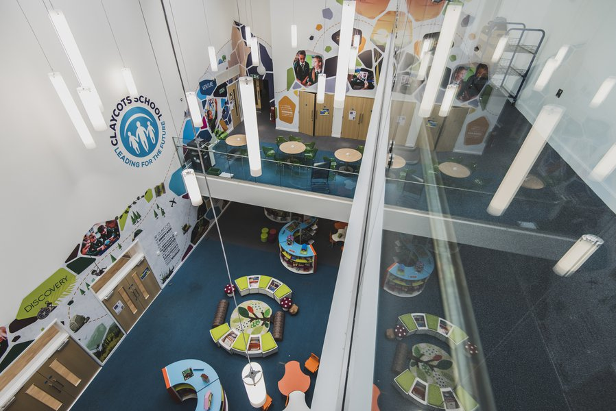 Interior of Claycotts School in Slough