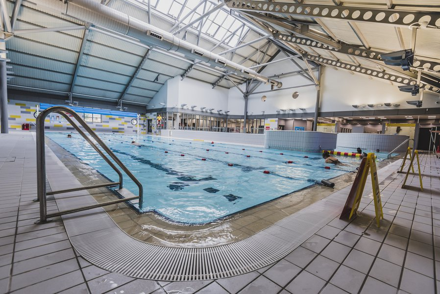 View of the pool area at Langley Leisure Centre
