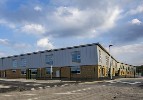 Image of the Cefn Saeson Comprehensive School built by Morgan Sindall Construction in South Wales