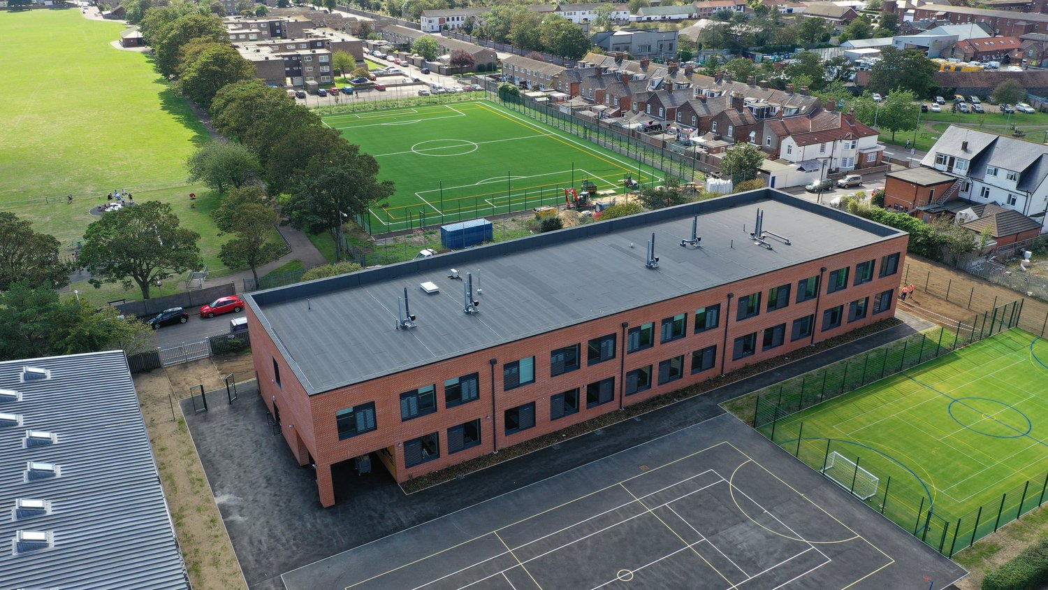 Aerial view of the Great Yarmouth Charter Academy