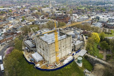 Image of Norwich Castle taken using a drone