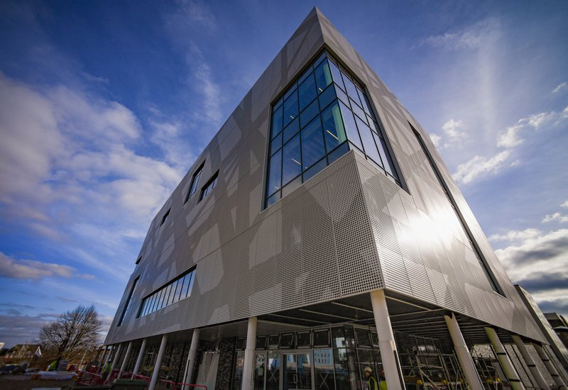 Southampton Solent Sports Building, perspective of the building taken from one of the corners