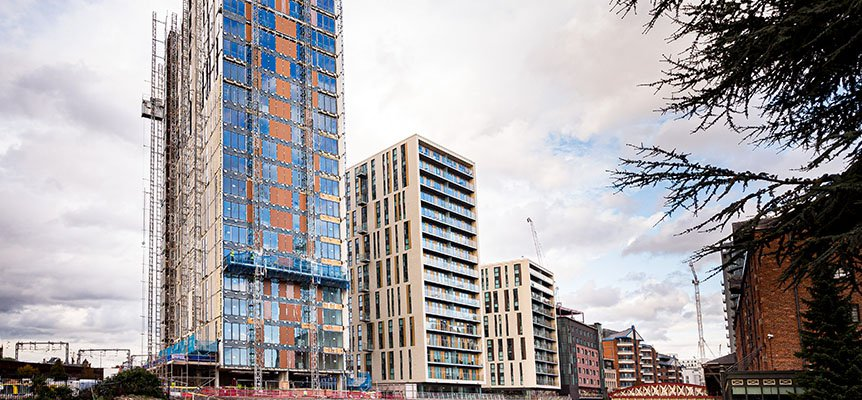 Image of the New Bailey project in Salford under construction