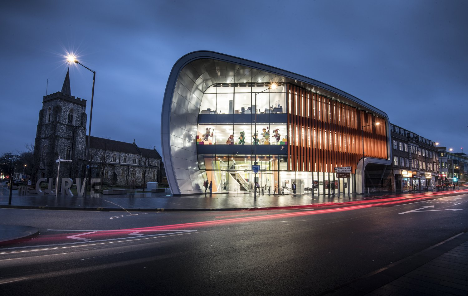 Image of the exterior of The Curve, the cinema in Slough