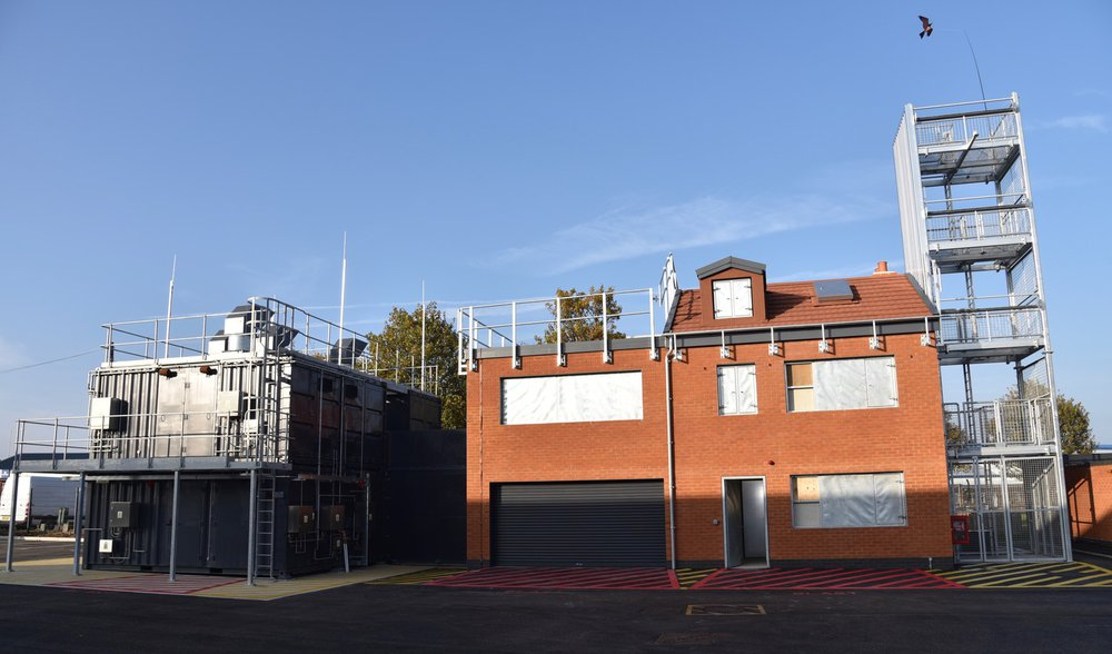 Image of the rear of the Ramsgate Fire Station which shows the drill tower