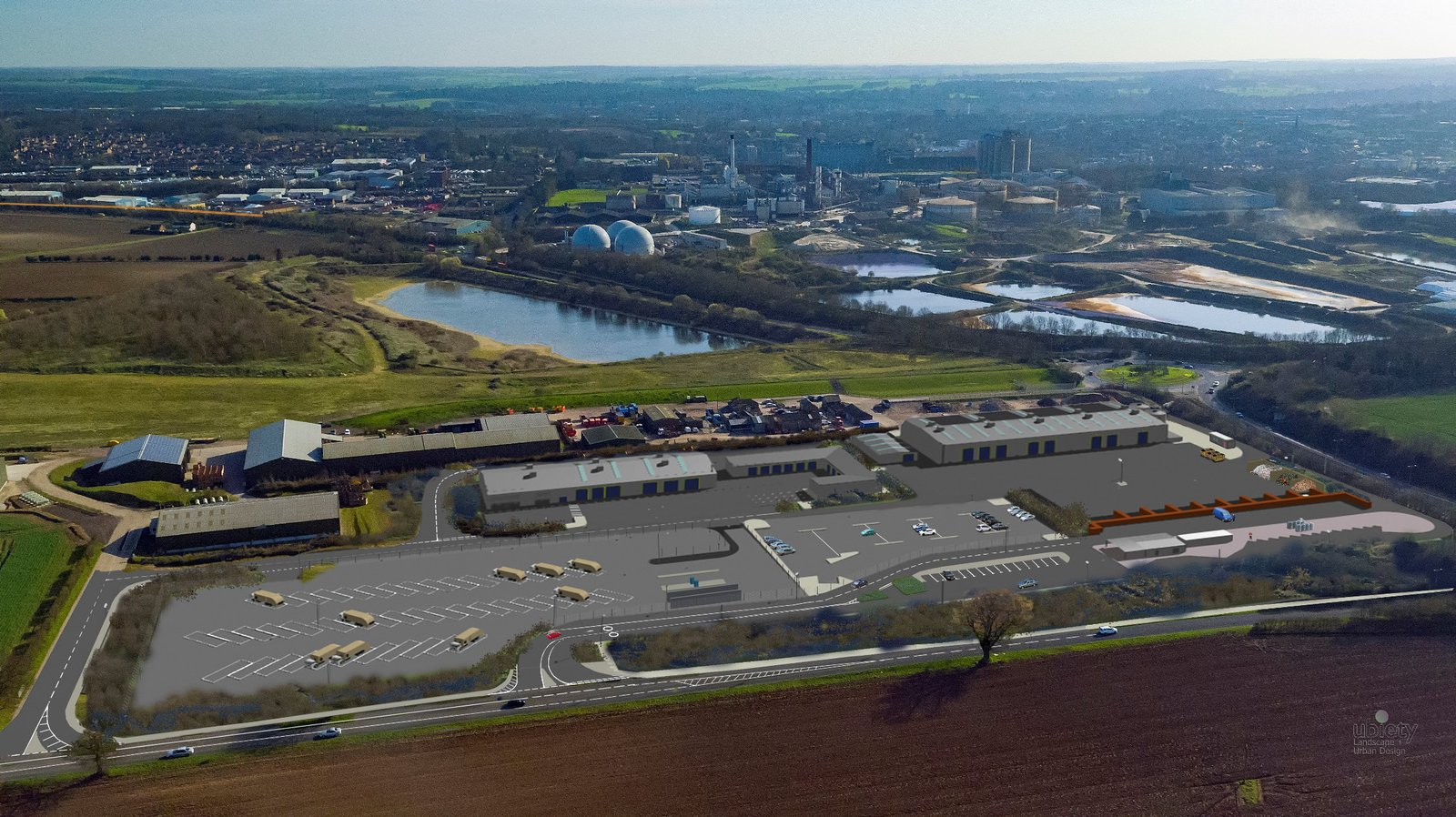Image of the proposed West Suffolk Operational Hub site, to be built by Morgan Sindall Construction