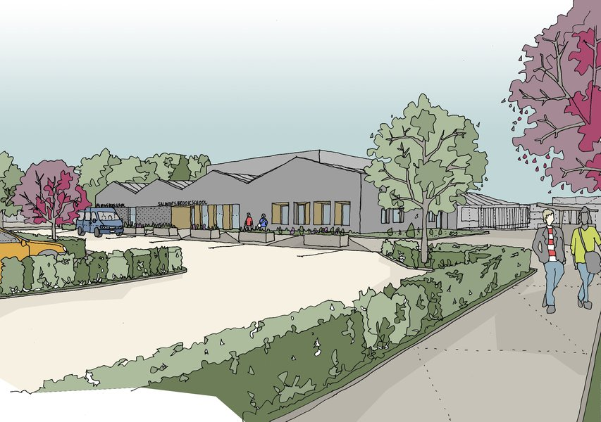 Artists impression of the Salmon's Brook School in Enfield