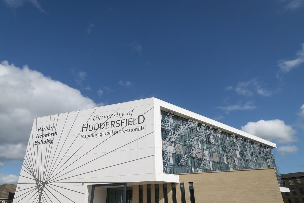 Side view of the Barbara Hepworth Building School of Art and Design for the University of Huddersfield