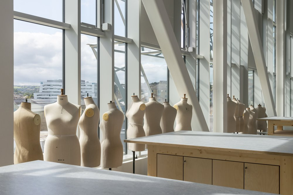 Image of the textiles studio at the Barbara Hepworth Building, University of Huddersfield