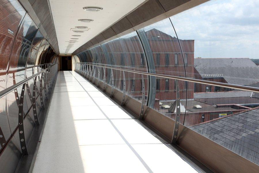 Image of the Bassetlaw Bridge at Bassetlaw Hospital in Worsop