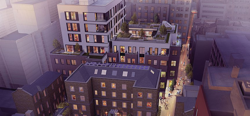 Image of the proposed Bedford Passage residential development in Fitzrovia, London