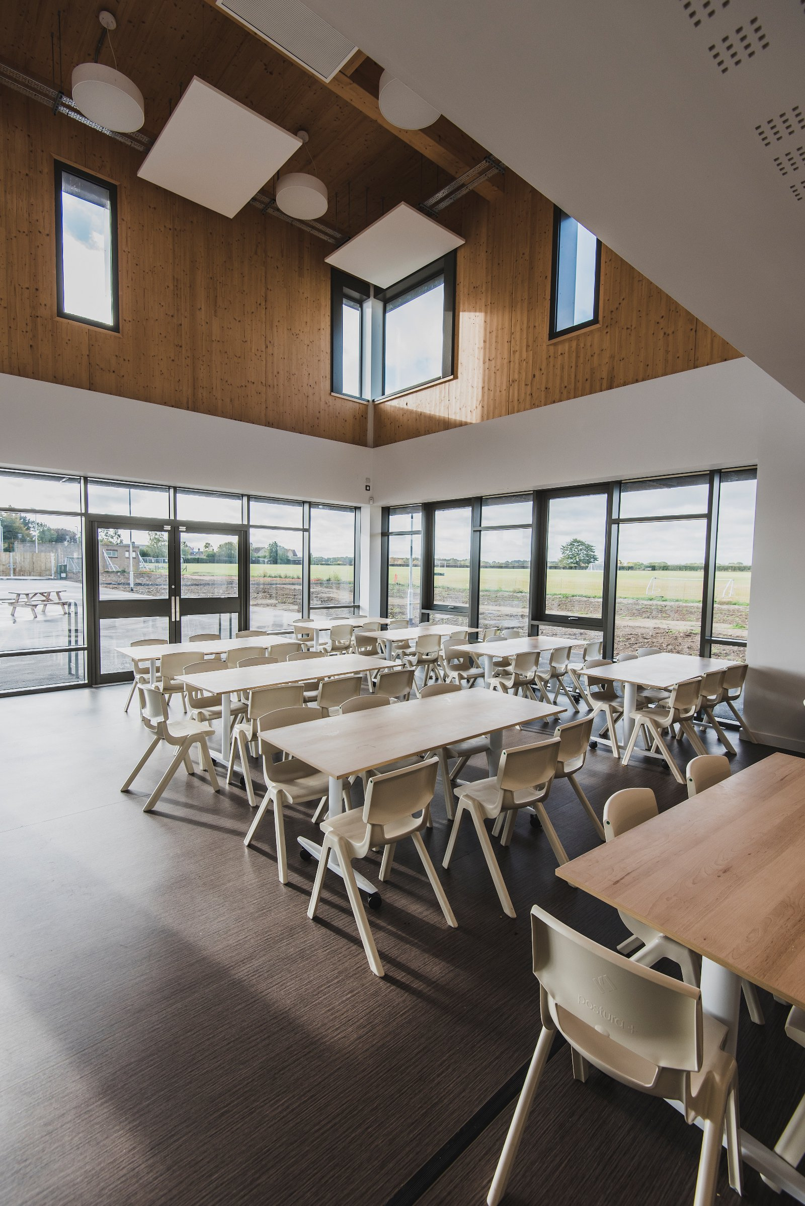 Image of the completed Bottisham Village College which was built by Morgan Sindall Construction