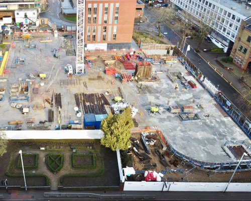 Image of the CCOS site in St Albans taken from a drone