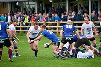Image of the Charity Rugby Match, with the teams taking part