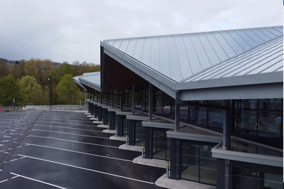 Image of the Merthyr Tydfil bus station in Wales
