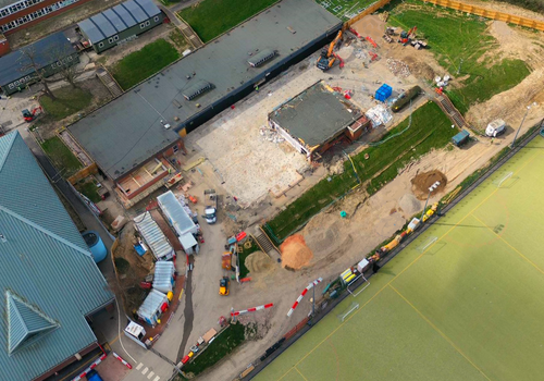 Aerial view of the Hailsham School project