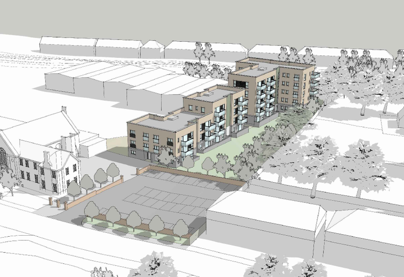 Proposed design for the Victoria Road residential development in Portslade
