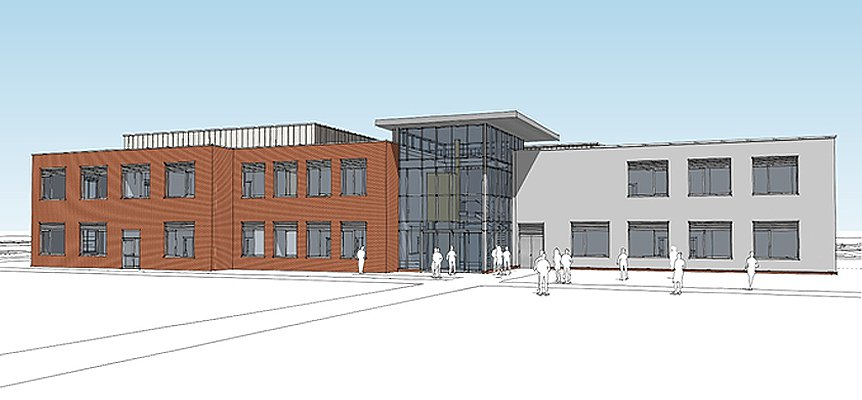 Architectural drawing of the proposed CEFAS training centre in Lowestoft