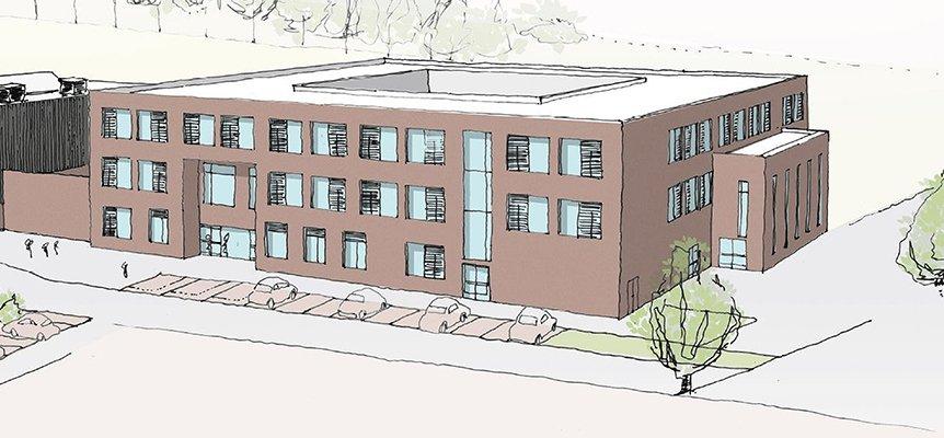 Image of the proposed Eden Girls School Academy building in Birmingham