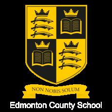 Black and yellow shield logo for Edmonton Academy Trust