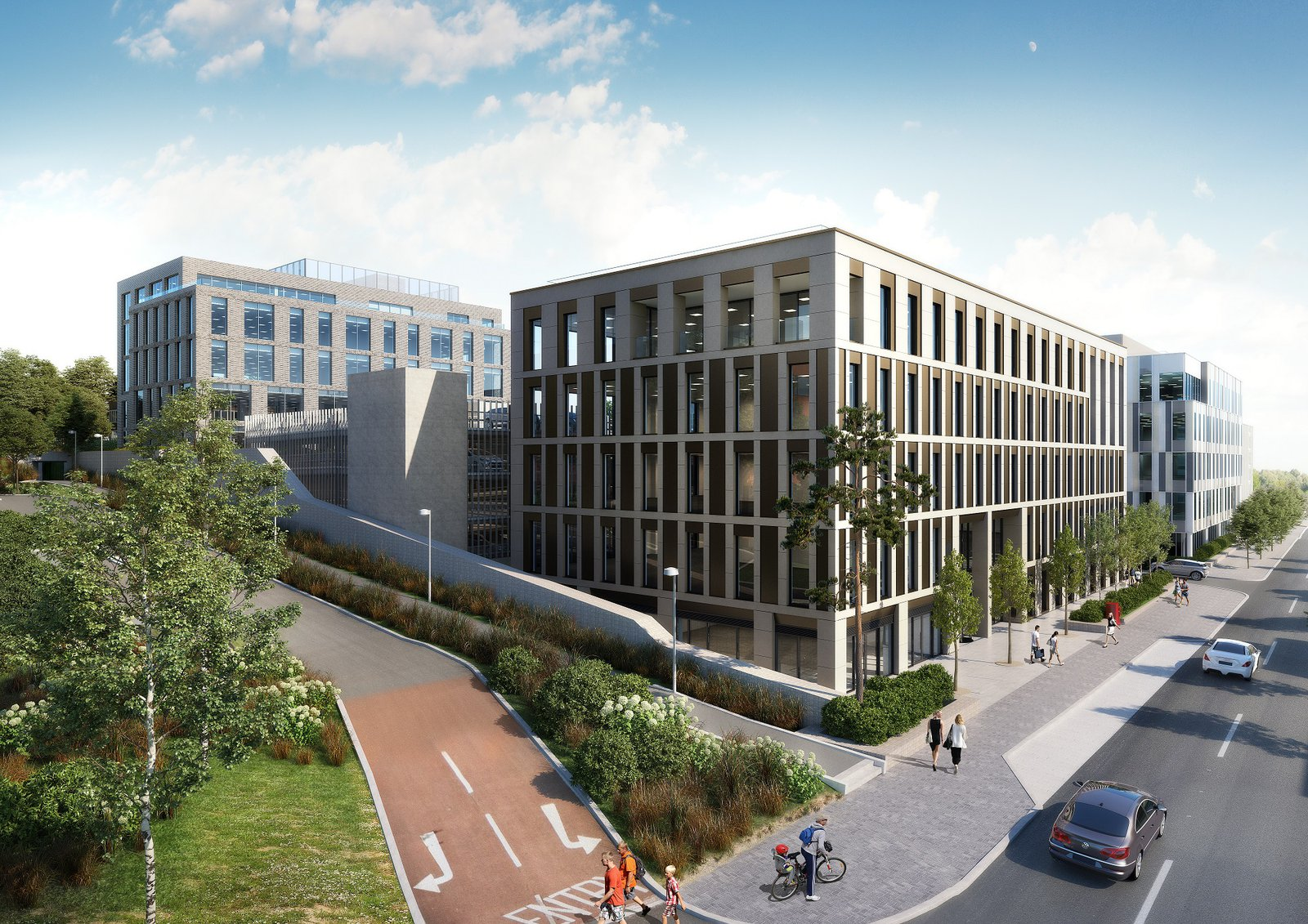 Image of the proposed headquarters for Eli Lilly to be built by Morgan Sindall Construction
