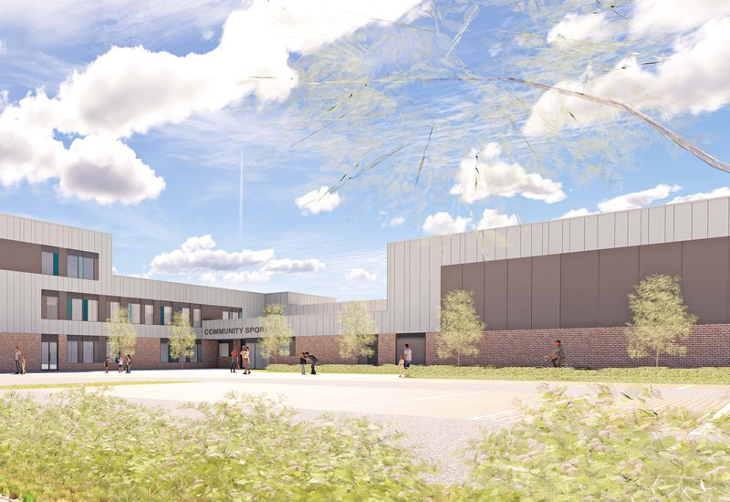 Proposed design of the Glebe Farm school in Wavendon, Milton Keynes