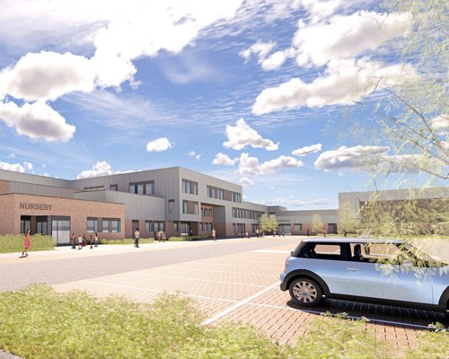 Proposed design of the Glebe Farm school in Wavendon, Milton Keynes