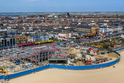 Aerial image of the Great Yarmouth Marina Centre project site