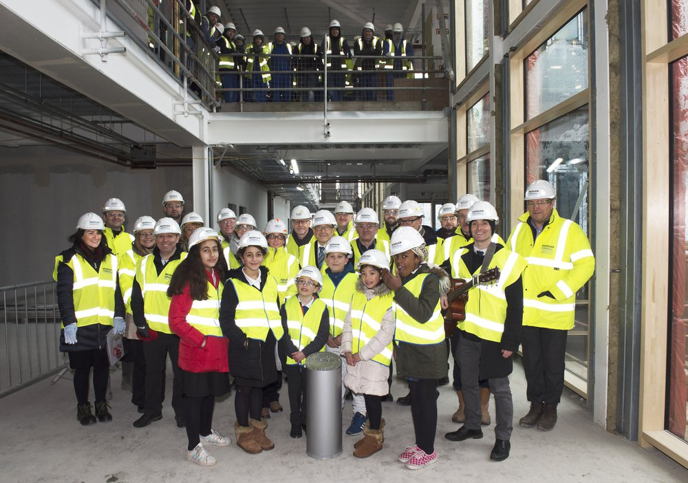Image of the group who took part in the time capsule event held at Woodside Gorbals health centre