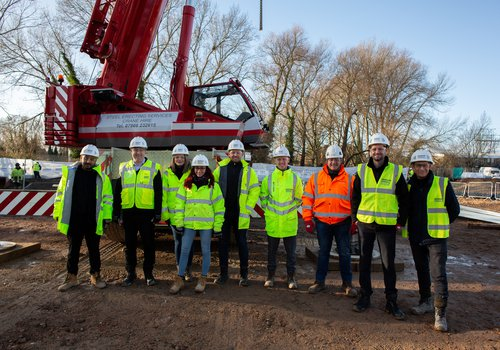 Group of Morgan Sindall Construction graduates on a site visit