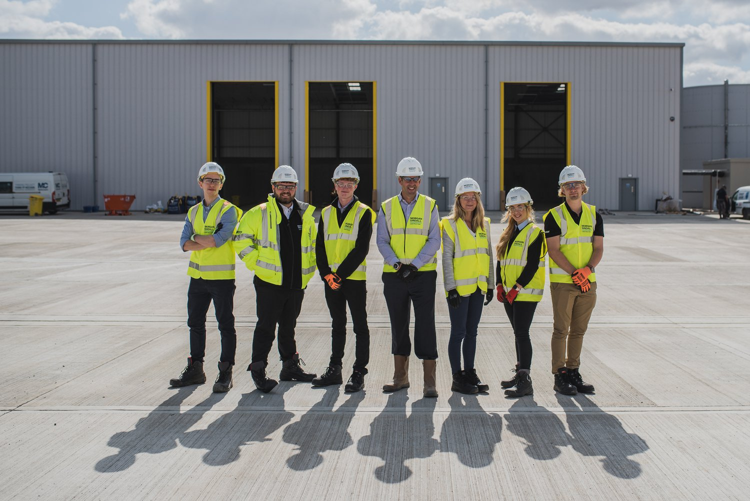 A group of Morgan Sindall Construction apprentices
