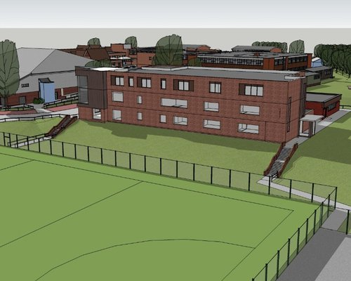 Proposed design of the Hailsham Community College Academy Trust to be built by Morgan Sindall Construction