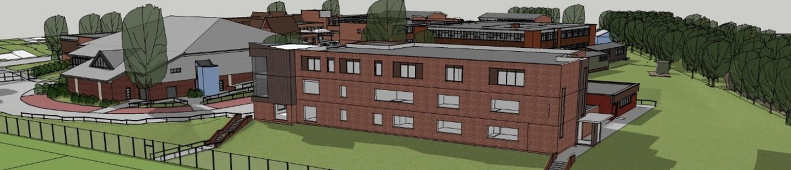 Design for the Hailsham Community College Academy Trust, to be built by Morgan Sindall Construction