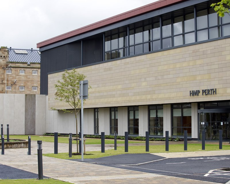 The entrance to HMP Perth