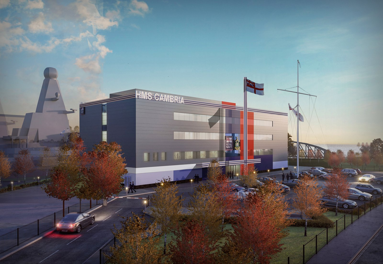Image of the proposed HMS Cambria building
