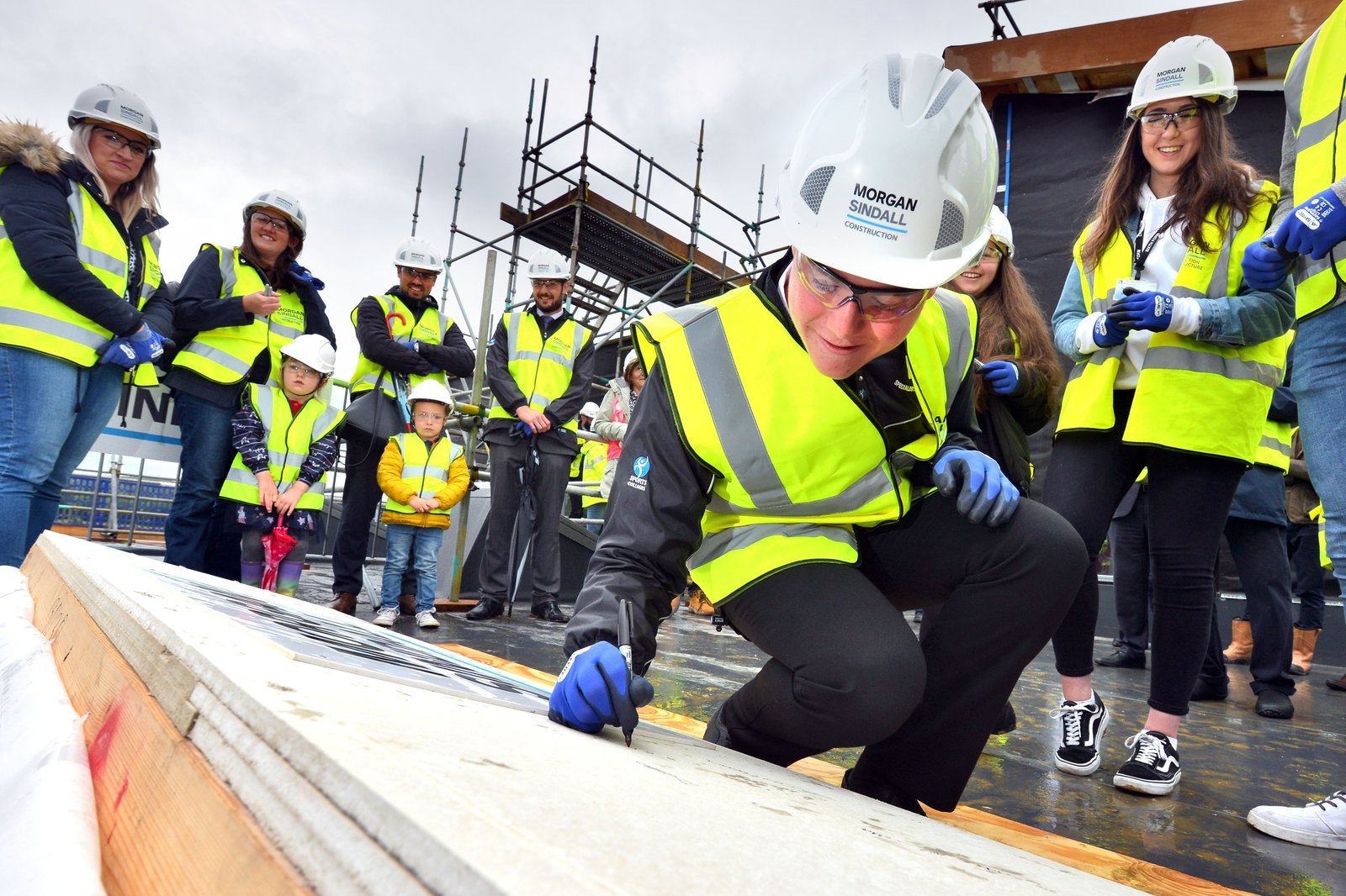 Morgan Sindall Construction topping out ceremony at Hailsham School