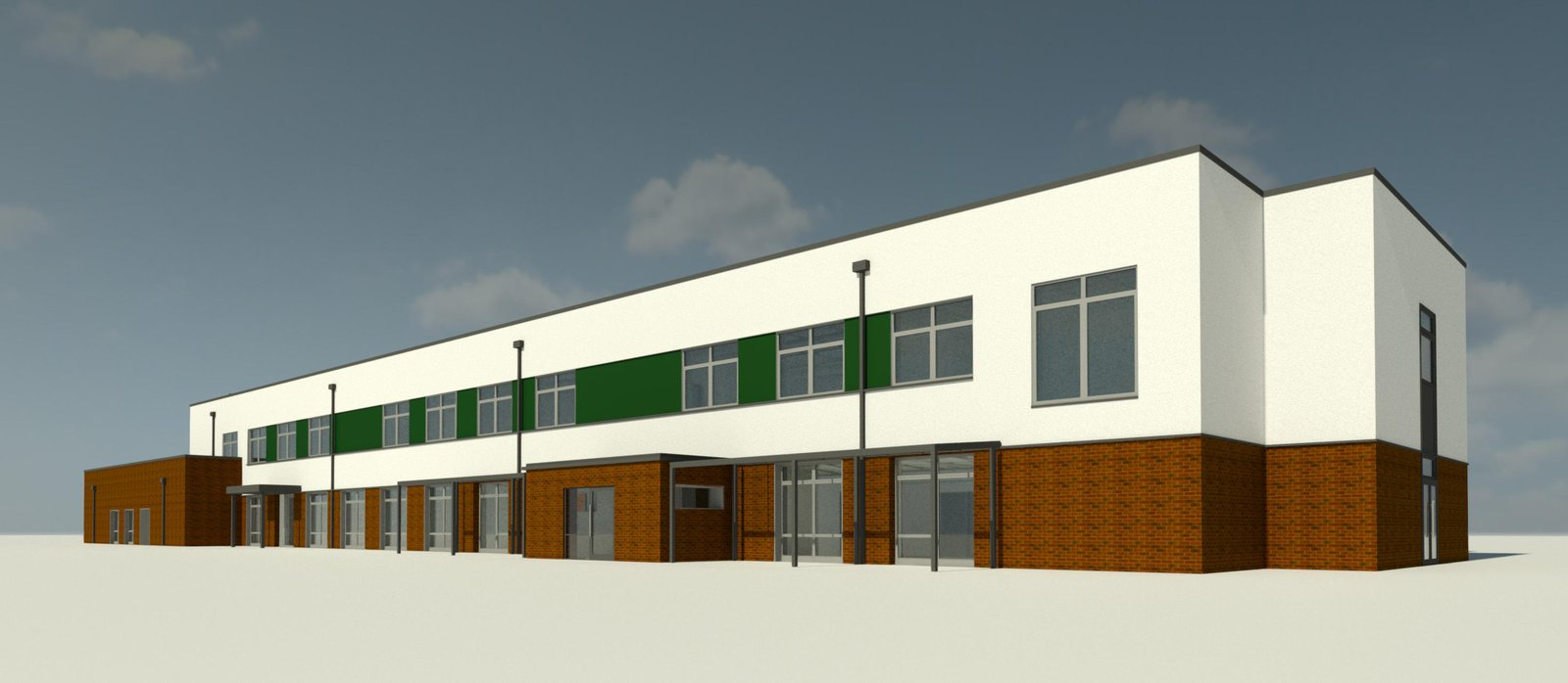 Image of the proposed Hethersett Primary School to be built by Morgan Sindall Construction