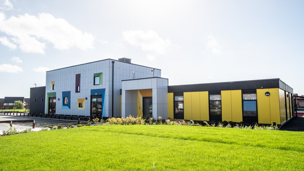 Exterior view of Highfields Spencer Academy in Derby