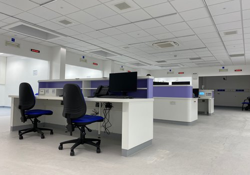 Image of one of the modular units at James Paget Hospital