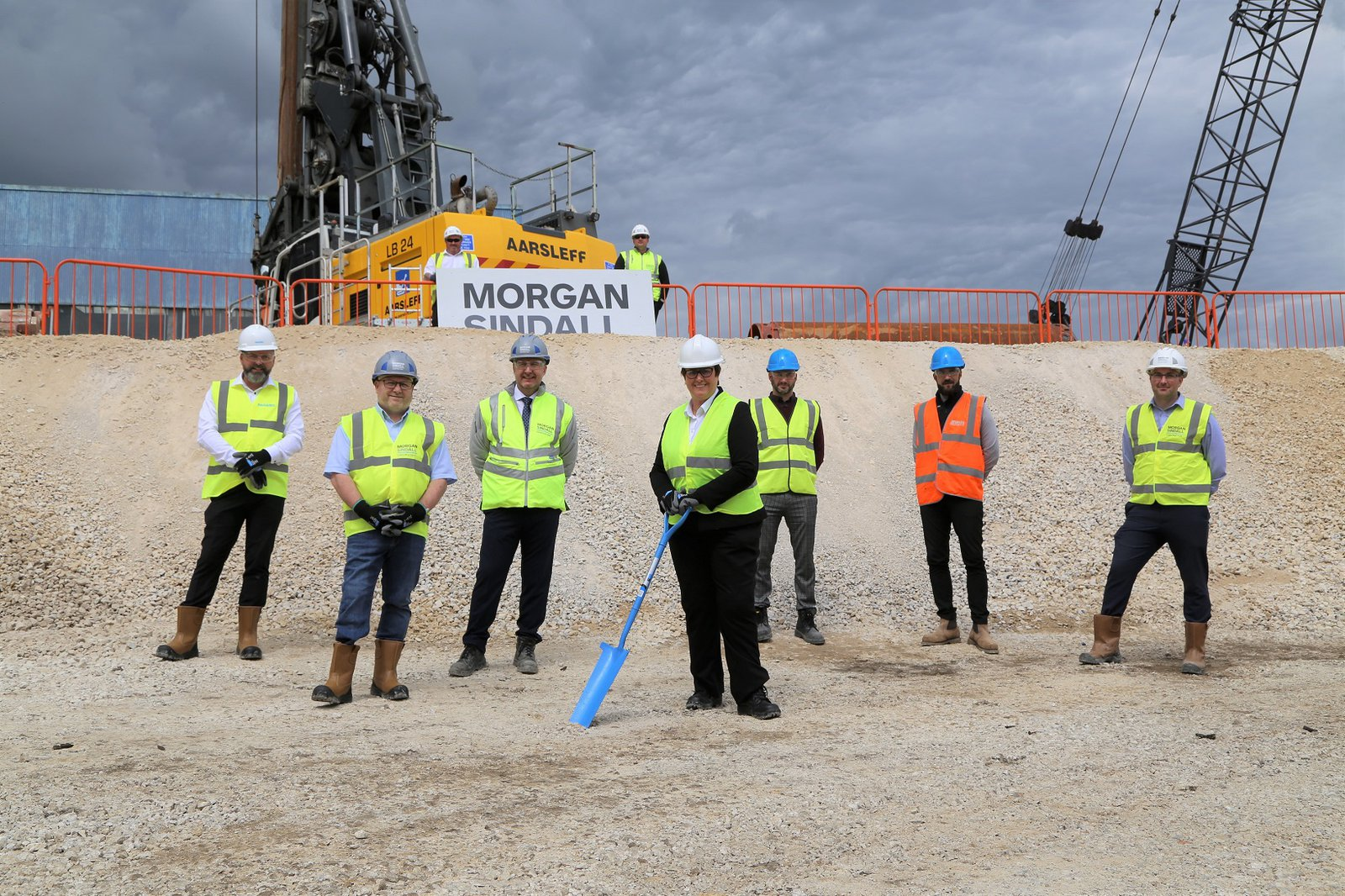 Groundbreaking event at the new Jewson site in Chesterfield