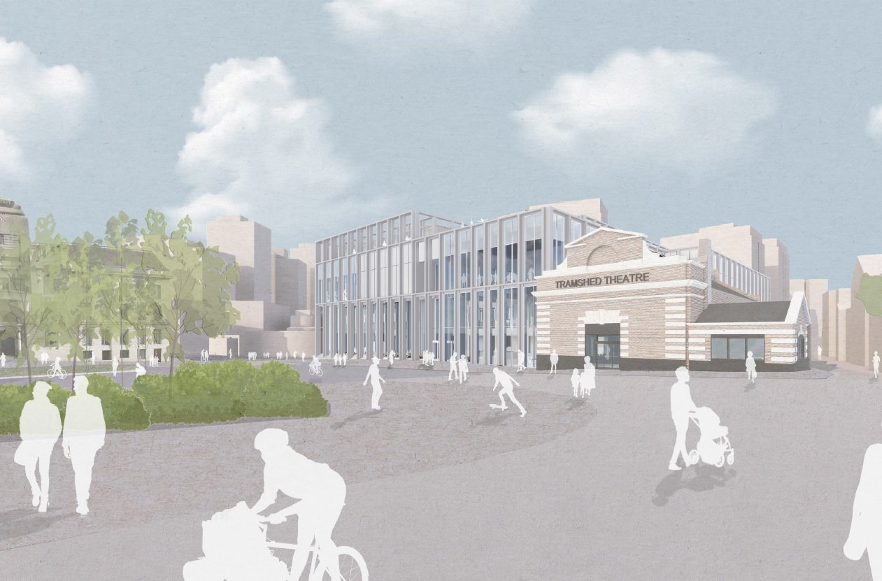 Design of the outside of the Woolwich Leisure Centre