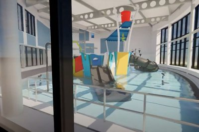 Image taken from the video featuring designs of the Great Yarmouth Marina Centre leisure centre