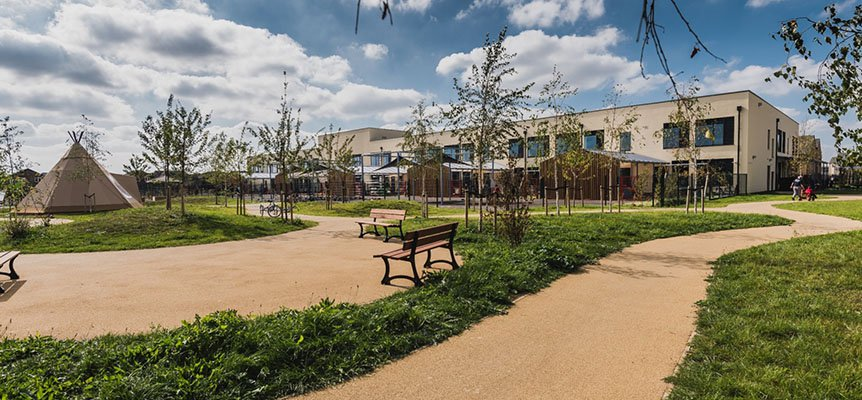 Image of the completed Lexden Springs School, built by Morgan Sindall Construction